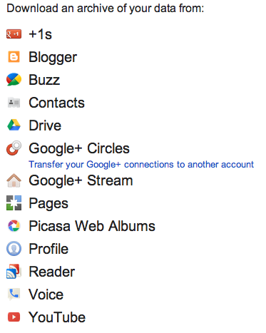 Google Takeout February 2012