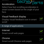Smart Scroll Settings In Galaxy S IV