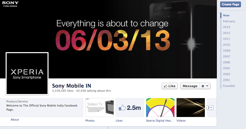 Sony Mobile India Facebook Cover Photo