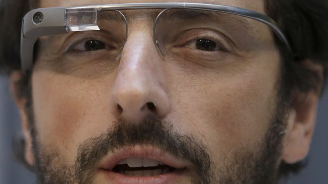 Google Glass And Sergey Brin